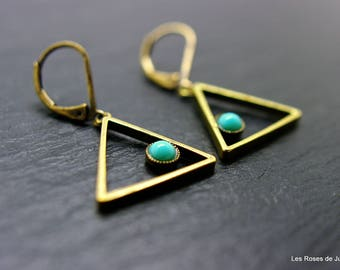 Earrings triangle earrings