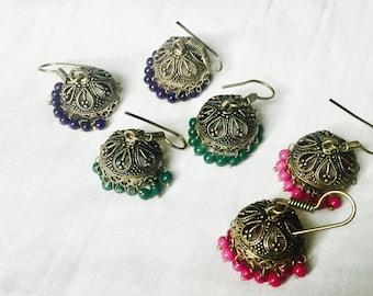 Bead Jhumkas/Small Jhumkas /light Weighted earrings /Indian Jewelry
