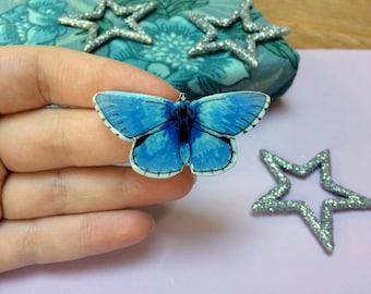 Blue Butterfly - Brooch - Adonis Blue