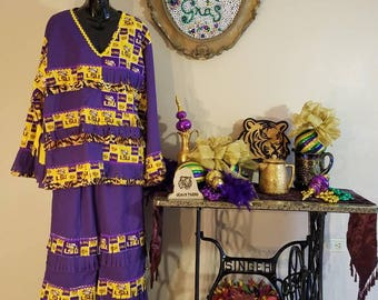 "Traditional Mardi Gras Costume LSU  ""Purple"""