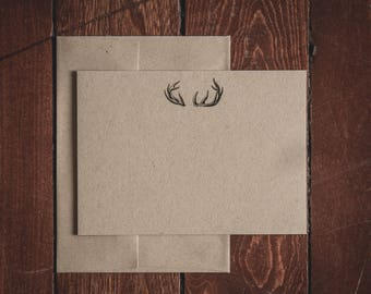 Flat Antlers Note Cards (Set of 8)