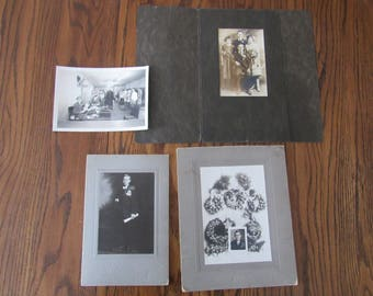 Lot of 4 Vintage Photographs Free Shipping