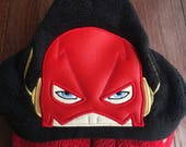 The flash superhero hooded towel, kids present, pool, beach and bathroom