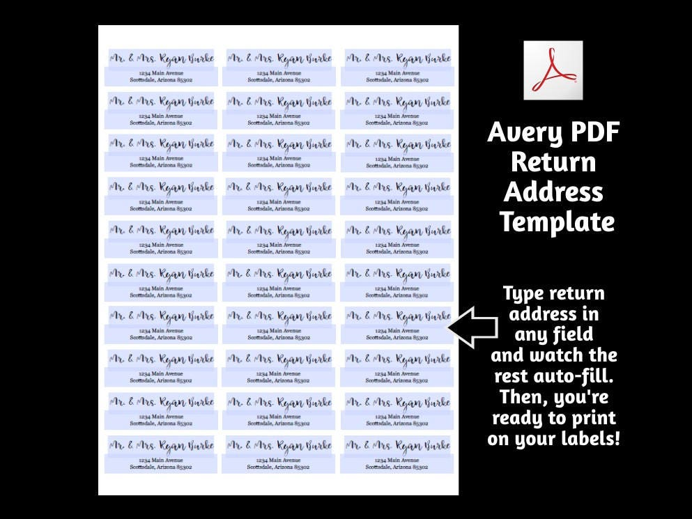 Printable address template for envelope labels avery 2 x for Avery template 48863