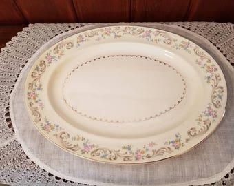 "Vintage, Paden City, Duchess, 13 3/4"" Serving Platter"