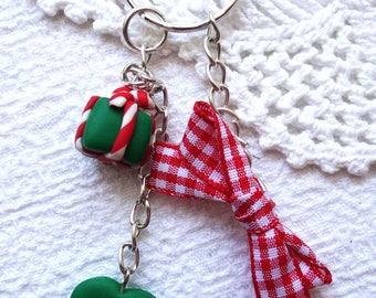 Handmade Christmas keychain keyring