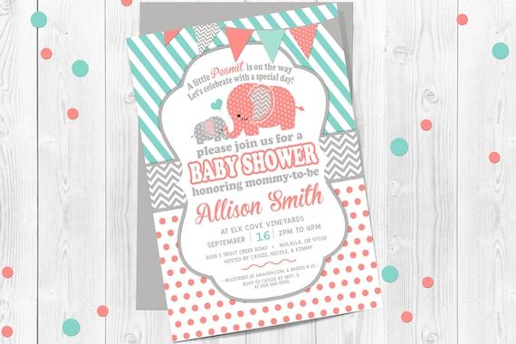 elephant baby shower invitations elephant baby shower elephant