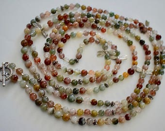 Jasper and Sterling Silver Necklace