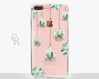 Succulent Clear Phone Case - Clear Case - For iPhone 8 - iPhone X - iPhone 7 Plus - iPhone 6 - iPhone 6S - iPhone SE Transparent  Samsung S8