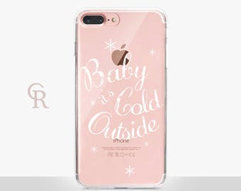 Christmas Phone Case - Clear Case - For iPhone 8 - iPhone X - iPhone 7 Plus - iPhone 6 - iPhone 6S - iPhone SE Transparent - Samsung S8 Plus