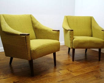 Pair of 1960s Danish Armchairs to be upholstered to order