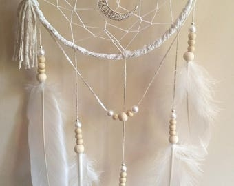 -DreamCatcher white with Moon
