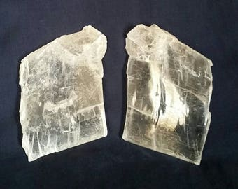 Selenite TWIN FLAMES Crystals // Soulmates // Healing Crystal Energy // Twin Flame Lovers // Heart  Chakra Balancing // 11:11 Connection