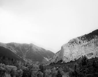 Colorado Landscape - Mountain - Black and White - Infrared - Landscape