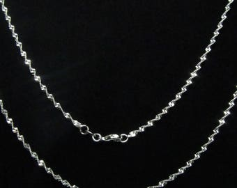 72cm TORSADEE silver link chain