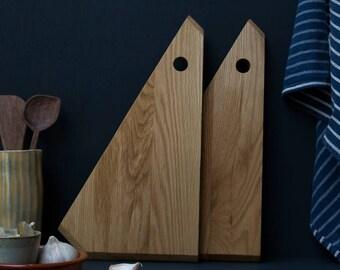 Splice Oak Chopping Board Pair by Konk!  - Handmade Serving Board