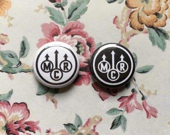 "My Chemical Romance Logo 1"" Pinback Button Selection"