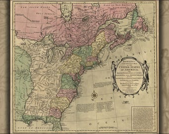 Poster, Many Sizes Available; Bowles'S Map Of The United States Of America 1783