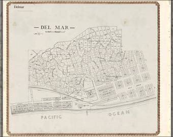 Poster, Many Sizes Available; Map Of Del Mar San Diego County California 1911