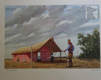 Florencio Molina Campos 'El trenzador' Minneapolis Moline Lithograph 1951