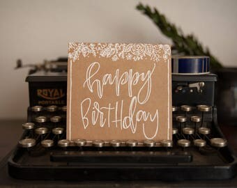 Happy Birthday Cards / Birthday Cards / Hand-lettered Cards / Greeting Cards