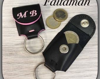 Personalized Leather Keychain/coins