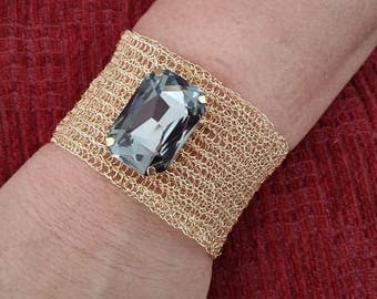 Knitting Bracelet With Tarnish Resistant Wire