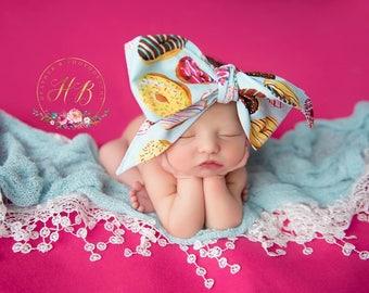 DONUT LOVE Gorgeous Wrap- headwrap; fabric head wrap; donut head wrap; boho; newborn headband; baby headband; toddler headband