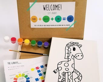 Giraffe Paint Kit