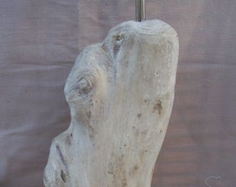 Tall Yorkshire Coast Driftwood Log lamp, Table or Bedside Lamp Bespoke  DWL6