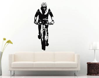 Mount Biking Trail Running Bicycle Sport Racing Wall Sticker Decal Vinyl Mural Decor Art L2300