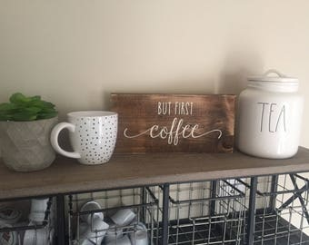 but first coffee sign rae dunn sign coffee bar sign coffee decor
