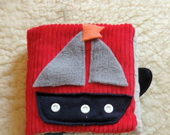 quiet book fabric sailor theme for baby 12 months
