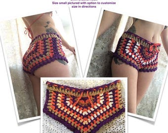 Crochet Granny Stitch Shorts Pattern