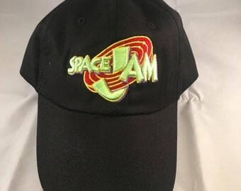 Space Jam Hat Cap Tune Squad Jordan Monstars Dad Hat Black