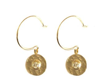 14K Gold Filled Mini Charm Hoops