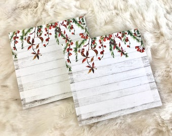 Winter Wishes Sticky Note Pad 50 Pages