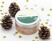 Frosted Forest Christmas Salt Scrub, 100% Natural with Himalayan Salt, Avocado and Coconut Oil.