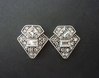 Art Deco Earrings Jewelry Great Gatsby Earrings Vintage Earrings Art Nouveau Earrings Jewelry Wedding Bridal Downton Abbey Downtown Abbey