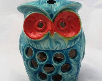 Vintage Ceramic Owl Hanging Candle Holder Made in Japan