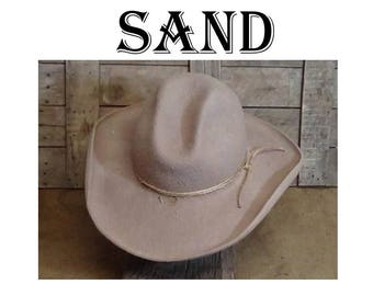 Buckaroo, Cowboy Hat, Gus Crease, Old West, classic western, historic, Lil Grizz, custom fit, hand blocked, hand shaped, beaver fur felt