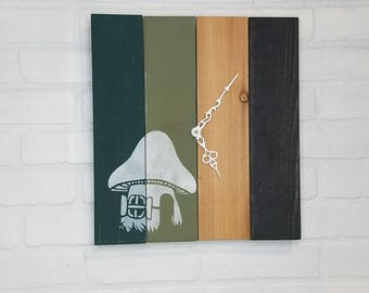 Lage Wood Wall Clock - The Gnome Home