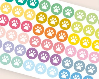 Repositionable paw print stickers, planner stickers, vet stickers, pet stickers, dog cat stickers, animal eclp filofax happy planner kikkik