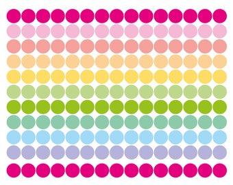 """150 pastel tiny dot stickers, 0.25"""" round sticker, circle sticker, planner sticker, color coding checklist eclp filofax happy planner kikkik"""