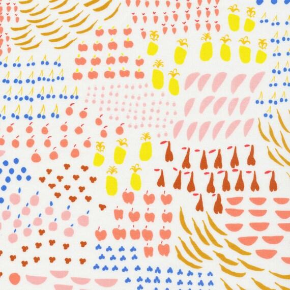 Organic Crib Sheet - To Market Apple a Day in White - MADE-to-ORDER fruit baby bedding, pink toddler sheet set, bassinet sheet, mini crib