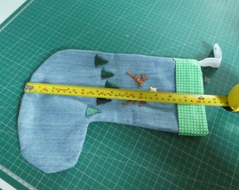 Recycled denim, Christmas Stocking