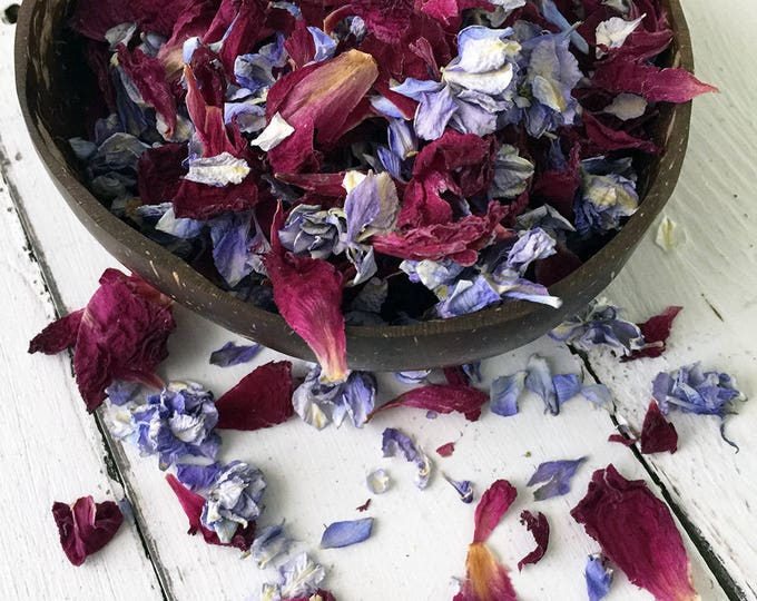 Natural Flower Petal Confetti / Biodegradable / Dye Free / Petal Blend E