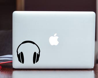Headphones Vinyl Decal/Sticker Choose Size and Color