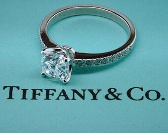 Tiffany & Co Novo Diamond Platinum Engagement Ring 1.21ct G-VVS1