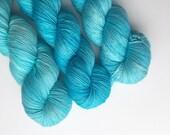 Hand Dyed Yarn. Blue. Sock Weight. Merino. Gigi Bonin. It Has Sprung